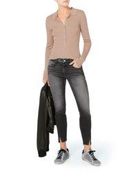 AMO | Gray Twist Two-tone Stormy Jeans | Lyst
