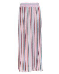 Missoni - Purple Lurex Striped Midi Skirt - Lyst