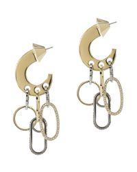 Sarah Magid | Metallic Sliced Up Hoop Earrings | Lyst