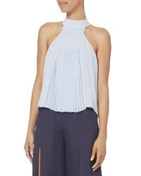 Exclusive For Intermix - Blue Blair Pleated Top - Lyst