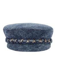 Eugenia Kim Blue Marina Denim Newsboy Cap for men