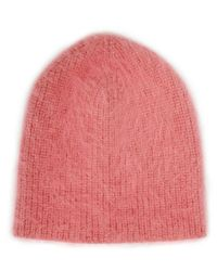 Jennifer Behr | Metallic Lurex Pink Angora Beanie | Lyst