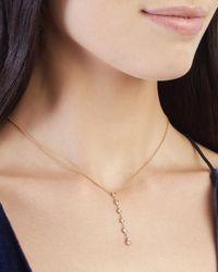 Jacquie Aiche | Metallic 5 Diamond Y Necklace | Lyst