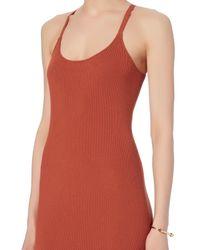 A.L.C. - Red Debi Rib Tank Midi Dress - Lyst