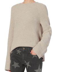 Helmut Lang - Natural Open Back Cotton/cashmere Pullover - Lyst