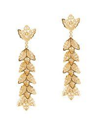 Mallarino - Metallic Johanna Large Leaf Drop Earrings - Lyst