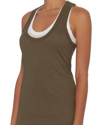 Enza Costa - Green Double Layer Tank Dress - Lyst