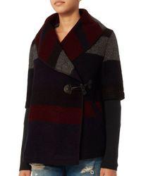 Line - Black Blossom Jewelbox Sweater Coat - Lyst
