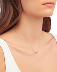 Adina Reyter - Metallic Pave Diamond Eye Pendant Necklace - Lyst