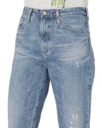AG Jeans - Blue Phoebe Vinte High-waisted Tapered Leg Jeans - Lyst