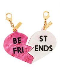 Edie Parker - Pink Best Friends Charm - Lyst