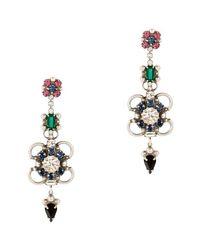 DANNIJO   Multicolor Ellyn Crystal Drop Earrings   Lyst