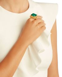 Elizabeth Cole - Wren Cocktail Ring: Green - Lyst