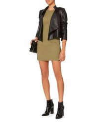 Exclusive For Intermix - Black Dalilah Leather Draped Jacket - Lyst