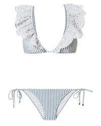 Zimmermann - Multicolor Meridian Striped Bikini - Lyst