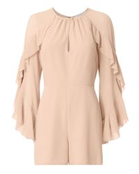 Exclusive For Intermix | Natural Molly Ruffle Sleeve Romper | Lyst