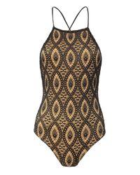 Nightcap | Black Open Back Lace Bodysuit | Lyst