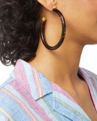 Cult Gaia - Brown Geneva Tortoise Acrylic Hoop Earrings - Lyst