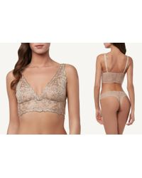 Intimissimi - Natural Embroidery Bra Top - Lyst