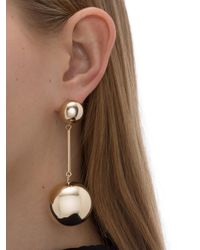J.W. Anderson - Metallic Gold Sphere Drop Earring - Lyst