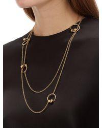 J.W. Anderson - Metallic Multi Pierce Long Necklace - Lyst