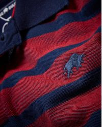 Raging Bull - Red Big And Tall Birdseye Stripe Polo for Men - Lyst