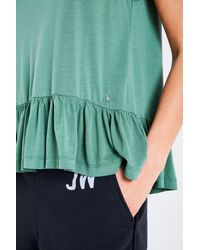 Jack Wills - Green Coston Frill Hem Tank - Lyst