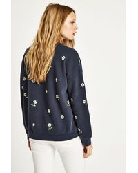 Jack Wills - Blue Sennen Embroidered Sweatshirt - Lyst