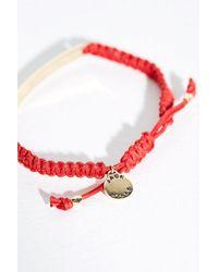Jack Wills - Red Mellanby Bar Adjustable Bracelet - Lyst