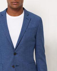 Jaeger - Blue Fish Scale Weave Slim Jacket for Men - Lyst
