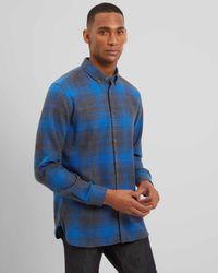 Jaeger - Blue Exploded Check Shirt for Men - Lyst
