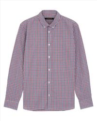 Jaeger | Red Cotton House Check Shirt for Men | Lyst