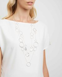 Jaeger | White Madison Links Necklace | Lyst
