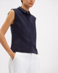Jaeger - Blue Scallop Lace Top - Lyst