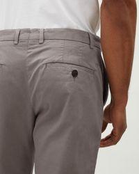 Jaeger - Gray Regular Garment Dye Chino for Men - Lyst
