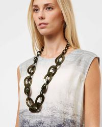 Jaeger - Green Jessica Loops Necklace - Lyst