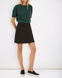 Jaeger - Black A-line Pocket Skirt - Lyst