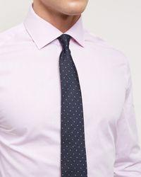 Jaeger - Pink End-on-end Slim Shirt for Men - Lyst