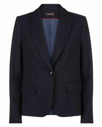 Jaeger - Blue Herringbone Jacket - Lyst