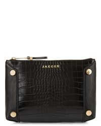 Jaeger - Black Ella Button Pouch - Lyst
