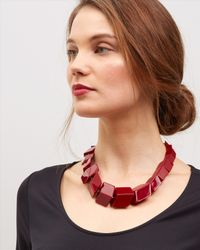 Jaeger | Red Renee Resin Cube Necklace | Lyst