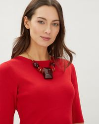Jaeger - Red Sarah Large Stone Necklace - Lyst