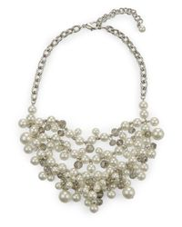Jaeger - Multicolor Faith Pearl Cluster Necklace - Lyst