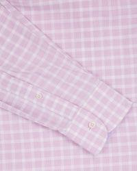 Jaeger - Pink Slim Textured Check Shirt for Men - Lyst