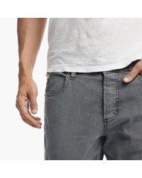 James Perse - Gray Stretch Cotton Linen 5-pocket Pant for Men - Lyst