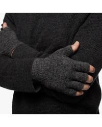 James Perse | Gray Merino Blend Fingerless Gloves for Men | Lyst