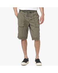 James Perse Green Cotton Seersucker Utility Short for men