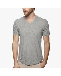 James Perse | Gray Clear Jersey V-neck for Men | Lyst