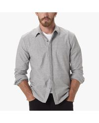 James Perse | Black Textured Jersey Shirt for Men | Lyst