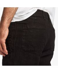 James Perse - Black Twill Linen Utility Pant for Men - Lyst